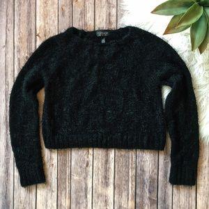 TOPSHOP Fuzzy Crop Sweater